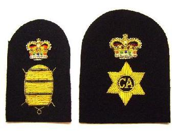 British Navy Catering and mine warfare badges