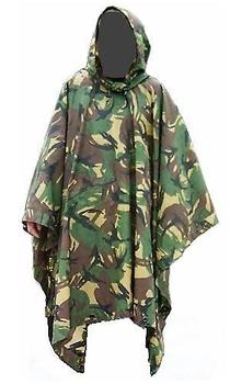 Poncho Dutch Military issue Woodland DPM poncho In Pouch, Graded Kit