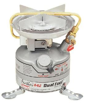 Coleman Unleaded Duel Fuel 442-700e Lightweight Feather Camping Stove