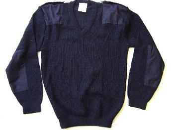 New Quality Navy Blue and Black Army MOD Wool V Neck Pullovers