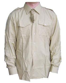 FAD Khaki Fawn Shirt, New British Army Other Ranks Long Sleeve Fawn Shirt