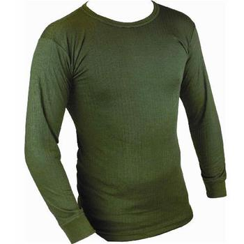 Thermal Long Sleeve Top, Olive Green Base Layer Warm Thermal Top, New