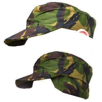 Crap Hat Older style Heavier fabric Woodland Camo Combat Cap British Army  used 874fd862886