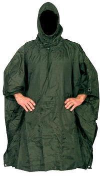 Brand New Olive Green Army Style Ripstop Poncho / Cape