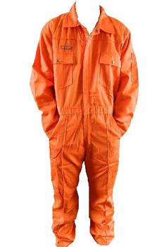 Orange - Kansas zip fronted coverall / boiler suit