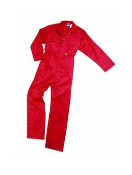 Red Zipped Front Quality Poly/Cotton Boilersuit
