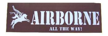 Airborne All the way sticker