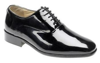 1bf5d5680f89b Black Patent Leather Dress Shoe Officers Wedding Shoes (M673AP)