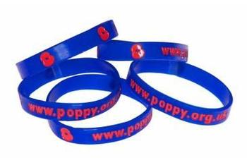 RBL Poppy wrist band - Support the Royal British Legion