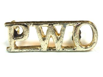 PWO (Prince Of Wales's Regiment Of Yorkshire) Shoulder title (pair)