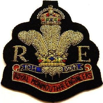 Blazer Badge of the Monmouth Engineers