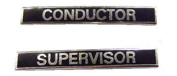 Black Railway Enamel conductor and supervisor
