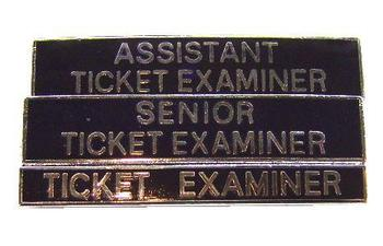 Black Enamel Railway ticket Examiners Badge