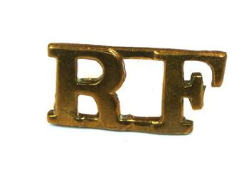 Royal Fusiliers Brass Shoulder title (pair)