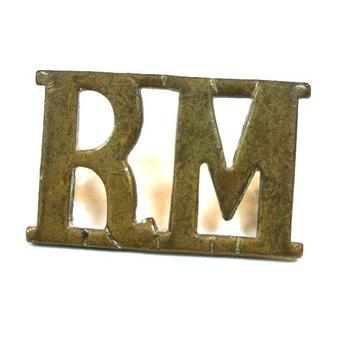 RM Royal marines shoulder title