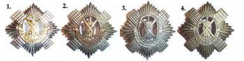 Royal Scots Cap Badges