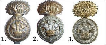 The Royal Welsh / Welch Fusiliers Cap Badges in Brass, Bi-Metal and Staybrite