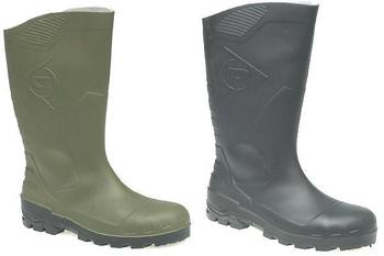 Dunlop 3/4 Safety Wellingtons With Midsole In Black Or Green (W219)