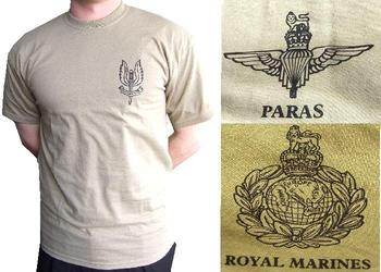New Sand Colour Special Forces T Shirts 3 Available Sas Para And