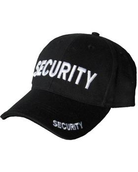 Security Baseball Cap, Black Quality Made Cotton Security Cap