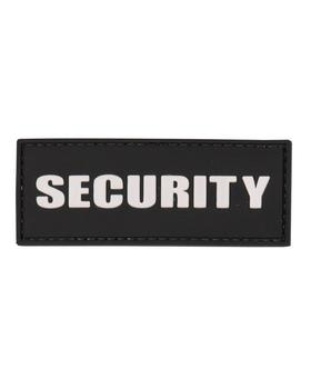 Black PVC Security Badge Patch With Velcro Back
