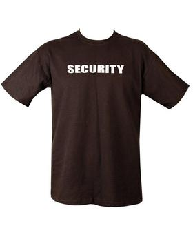 Security T shirt Black 100% Cotton TShirt with Security Printed on