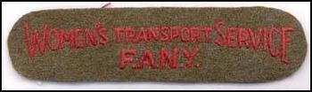 Womens Transport Service 'FANY'
