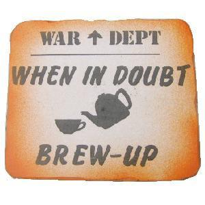 Brew Up Sign Great wooden signs War dept Brew up