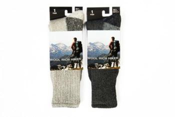 Hiker Socks Wool Rich Hiker sock with Reinforced sole area
