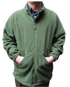 Green Army Fleece New Soldier 2000 Olive green Zipped fleece jacket ~ NEW
