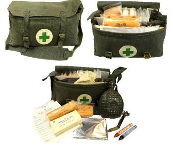 First Aid Pack, Genuine Swedish Civil Defence First Aid pack with contents
