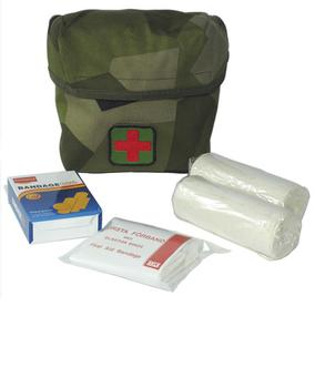 Swedish First Aid Kit - Mini Pack Military First Aid Kit From Sweden ~ New  In Camo Pouch