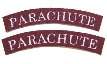 Wartime style Printed Parachute Shoulder titles