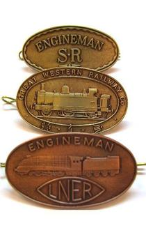 Great Large Oval Regional train Cap Badges