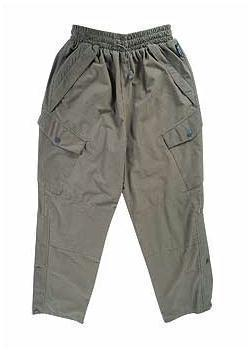 Jack Pyke Hunter Trousers, Olive Green Waterproof and Breathable Soft Fee Trousers