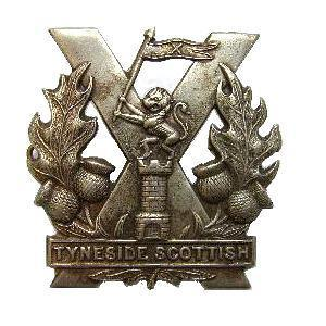 Tyneside Scottish Regiment - cap badges