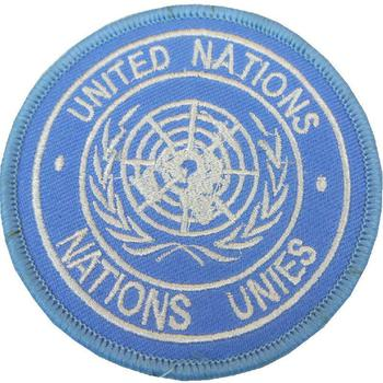 United Nations (UN) Peace Keeping Sew On Badge
