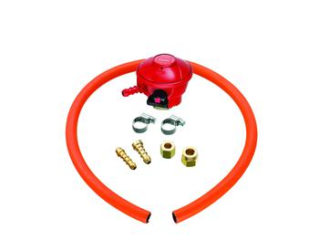 Universal BBQ Regulator and Hose Kit with clips and fitting