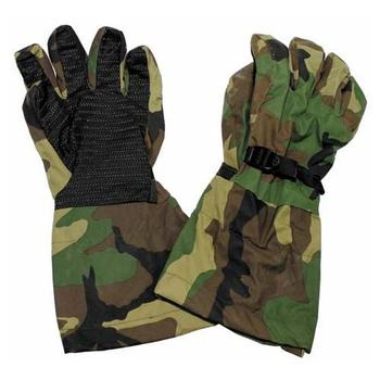 Goretex Gloves US Cold weather Gloves Gortex Woodland Camo Fleeced lined