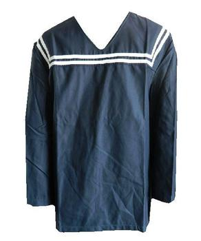 Sailors Shirt,  Naval Navy Blue Italian V front Sailors top, New