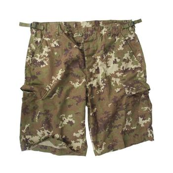 Shorts Italian Vegetato Camo US Bermuda Style, New pre washed