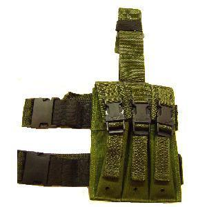 Olive Green or Black Viper MP5 Triple drop leg pouch