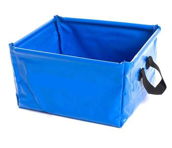 Wash Bowl / Bucket new Collapsible Blue Bowl with carry handles
