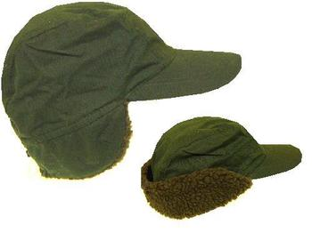 Waxed Trapper hat in olive greenNew
