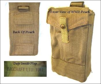 Rare New Un Issued WWII Magazine Pouch for 37 pattern webbing