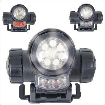 Web-Tex  3 function LED Head Torch With Red LED Function