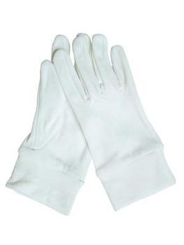 New Quality White Nylon Elasticated Gloves - Great for Parades