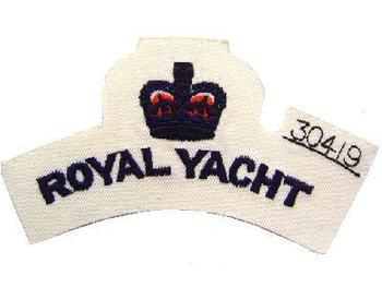 New white royal yacht shoulder title