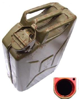 Water Can Wide Mouth 20 Litre Metal Jerry Can for Water / Jeep WW2 Style