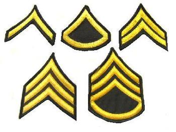 US army Sew on rank patches